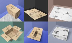 瓦楞纸包装箱应用效果展示贴图模板