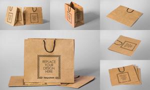 环保纸手提袋图案应用效果贴图模板