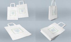 牛津布材质手提袋图案展示样机模板