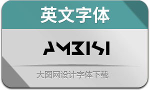 Ambisi(英文字体)