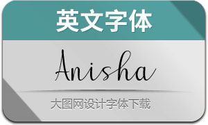 Anisha(英文字体)