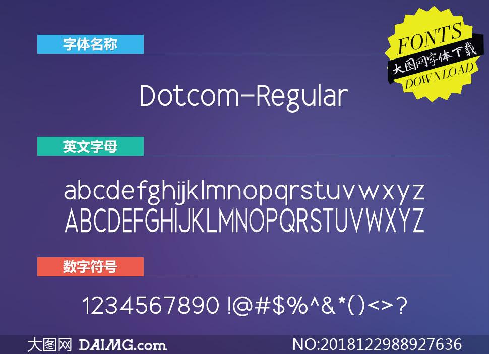 Dotcom-Regular(英文字体)