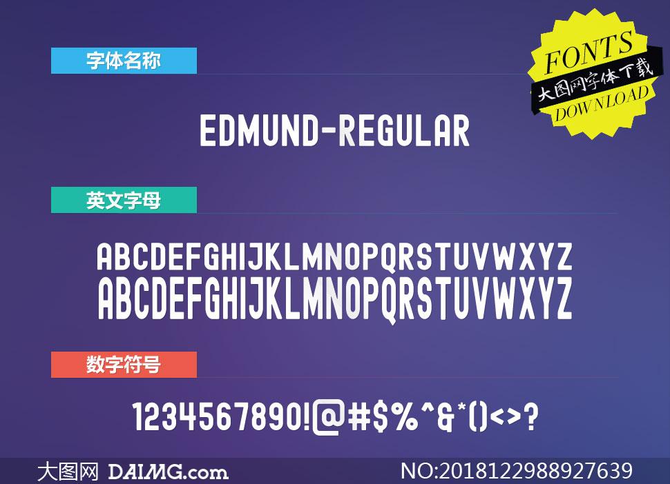 Edmund-Regular(英文字体)