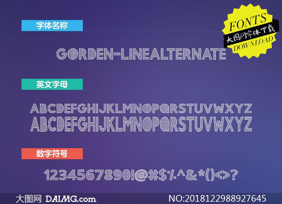 Gorden-LineAlternate(英文字体)