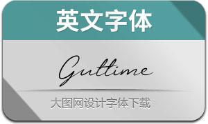 Guttime(英文字体)
