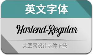 Harlend-Regular(英文字体)