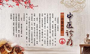 中医文化宣传展板设计PSD源文件