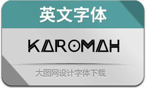 Karomah(英文字体)