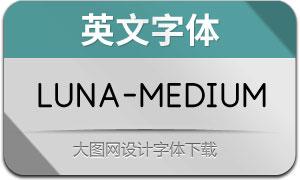 Luna-Medium(英文字体)