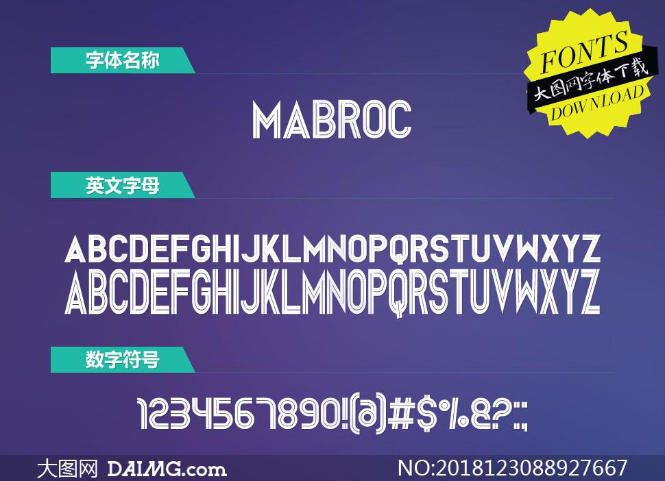 Mabroc(英文字体)