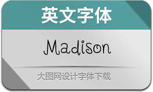 Madison(英文字体)