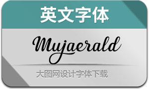 Mujaerald系列4款英文字體
