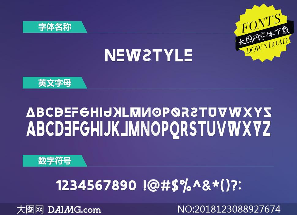 Newstyle(英文字体)