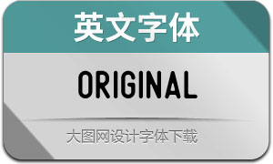 Original系列4款英文字體