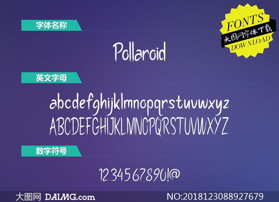 Pollaroid(英文字体)