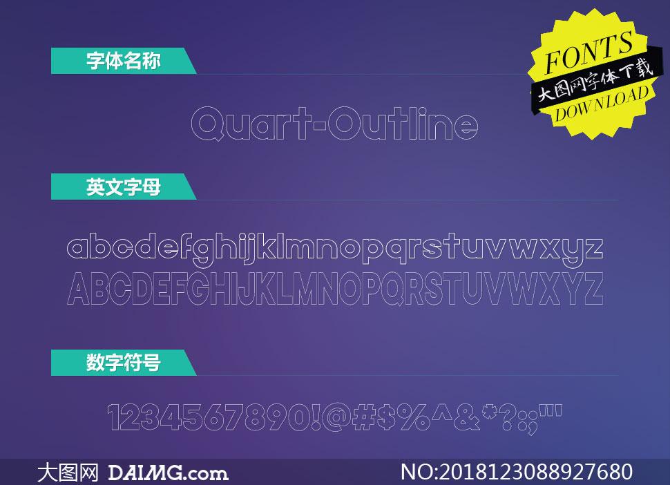 Quart-Outline(英文字体)