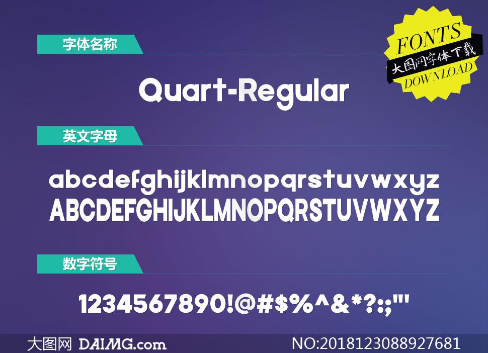 Quart-Regular(英文字体)