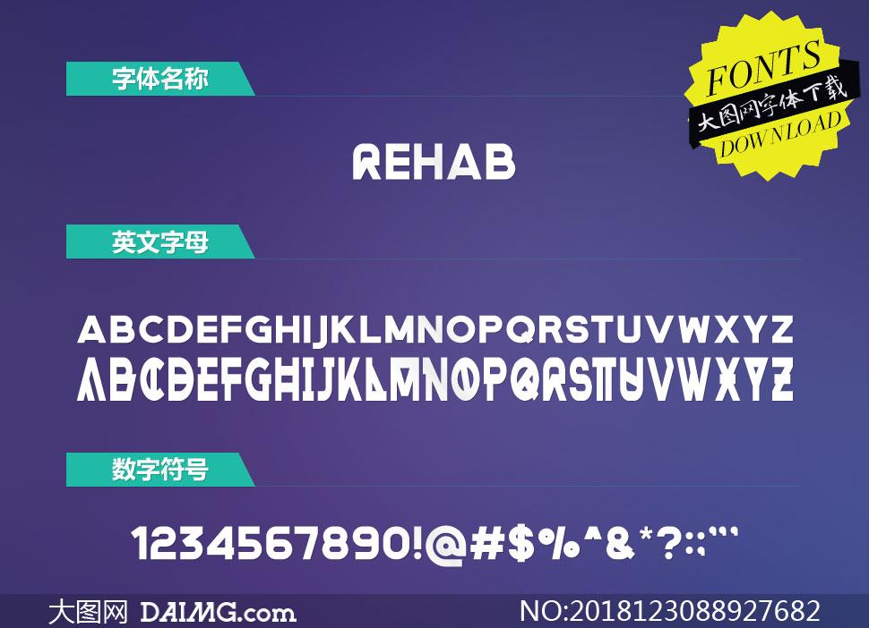 Rehab(英文字体)