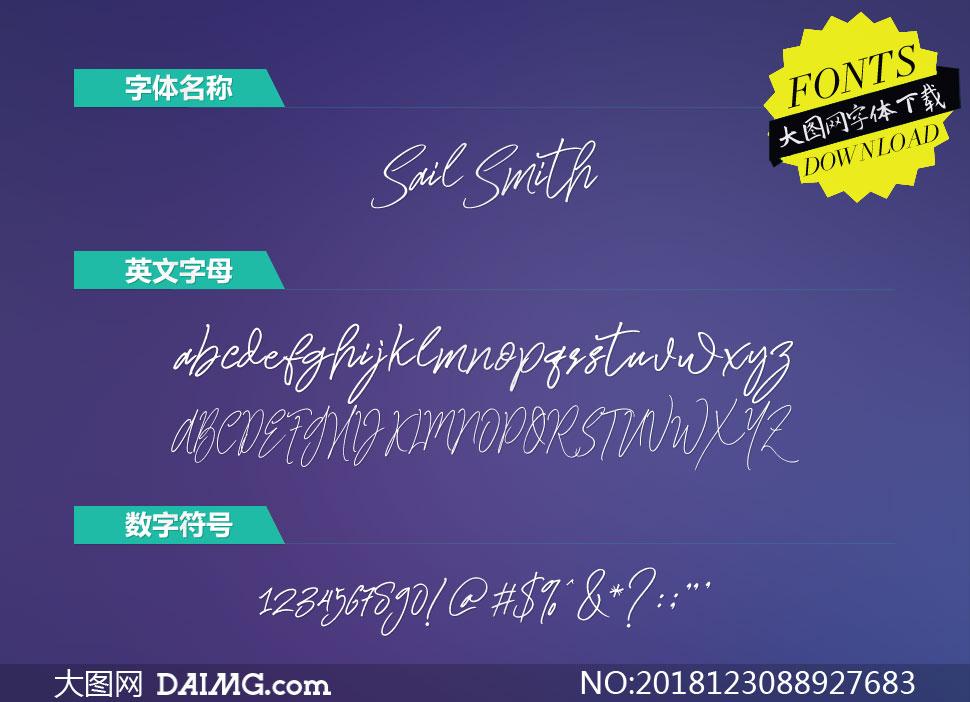 SailSmith(英文字体)