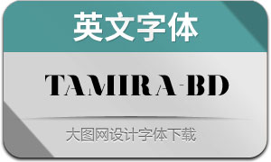 Tamira-Bold(英文字体)