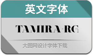 Tamira-Regular(英文字体)