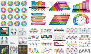 环形图与炫酷流程图等创意矢量素材