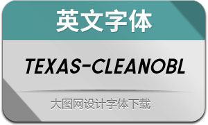 Texas-CleanOblique(英文字体)