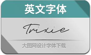 Trixie系列3款英文字體