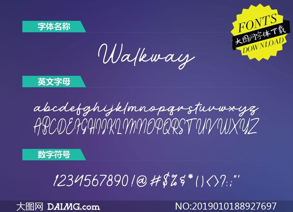 Walkway-Regular(英文字体)