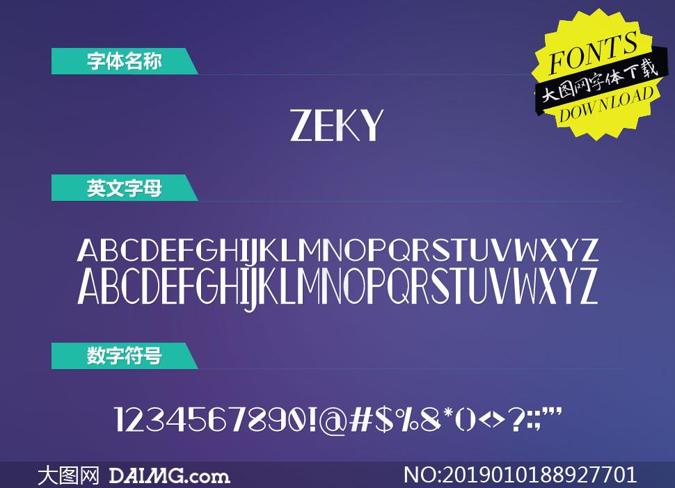 Zeky(英文字体)