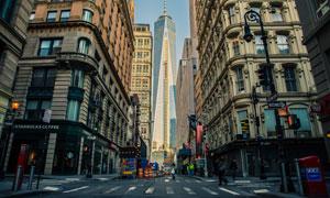 城市摩天大楼建筑仰拍摄影高清图片