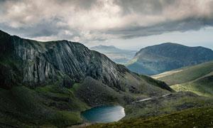 天空云彩大山自然风景摄影高清图片