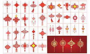 中国结吊坠设计合集矢量素材