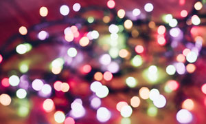 五彩缤纷光斑虚焦效果摄影高清图片