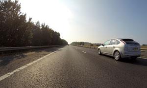 高速公路树木景观风光摄影高清图片