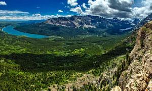 蓝天白云山水植被风光摄影高清图片