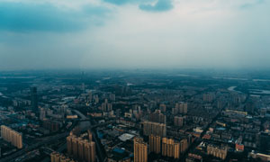 鸟瞰视角城市建筑风光摄影高清图片
