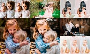 儿童照片甜美暖色效果LR预设