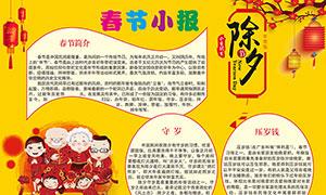 春节小报手抄报设计矢量素材