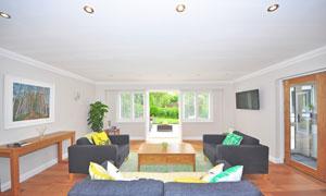 会客室的沙发家具摆放摄影高清图片