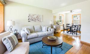 房间沙发茶几桌椅布置摄影高清图片