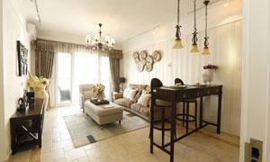客厅房间吊灯沙发家具摄影高清图片