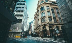 城市十字街口建筑风光摄影高清图片