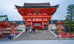 日本京都伏見稻何大社攝影高清圖片