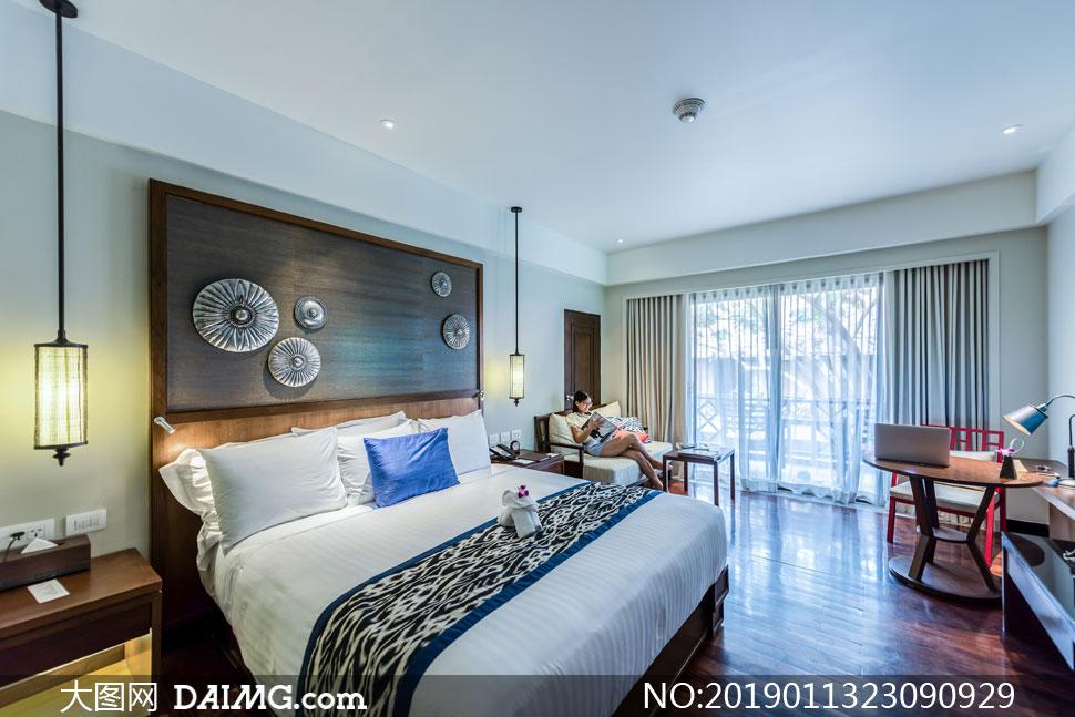 卧室房间家具摆放实景展示高清图片