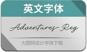 AdventuresUSc-Regular(英文字体)