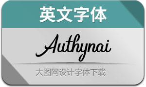 Authynai(英文字体)