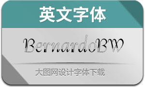 Bernardo-BlackWhite(英文字体)