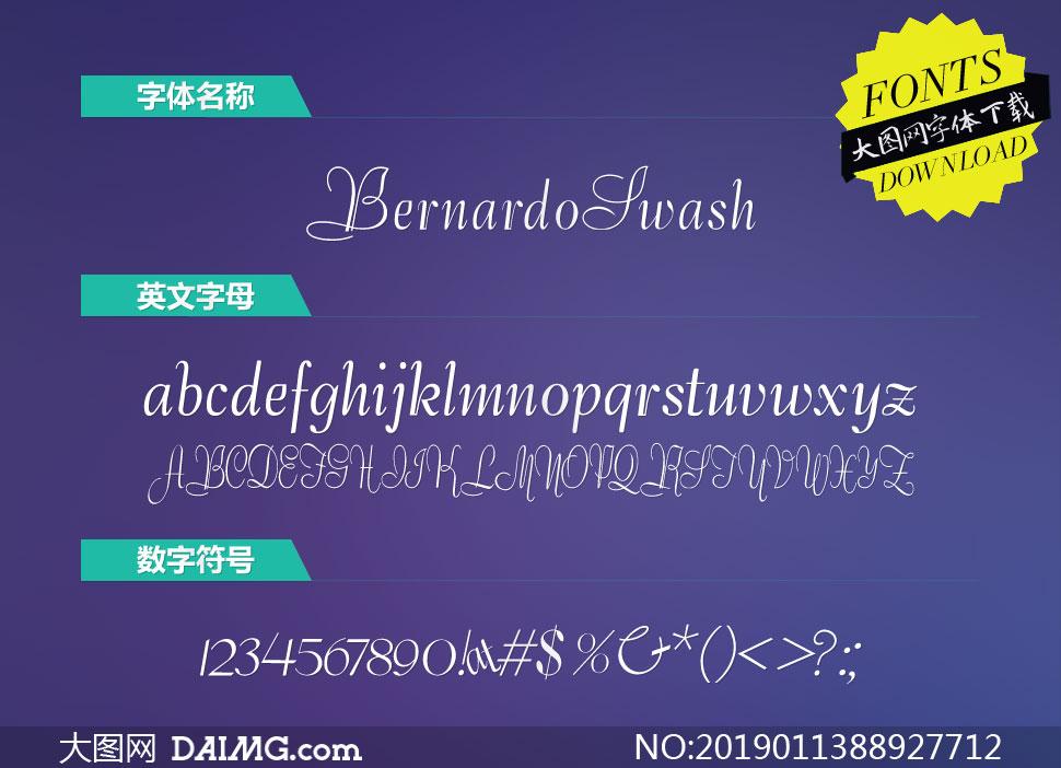 BernardoSwashInitials(英文字体)