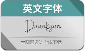 Drunkgun(英文字体)